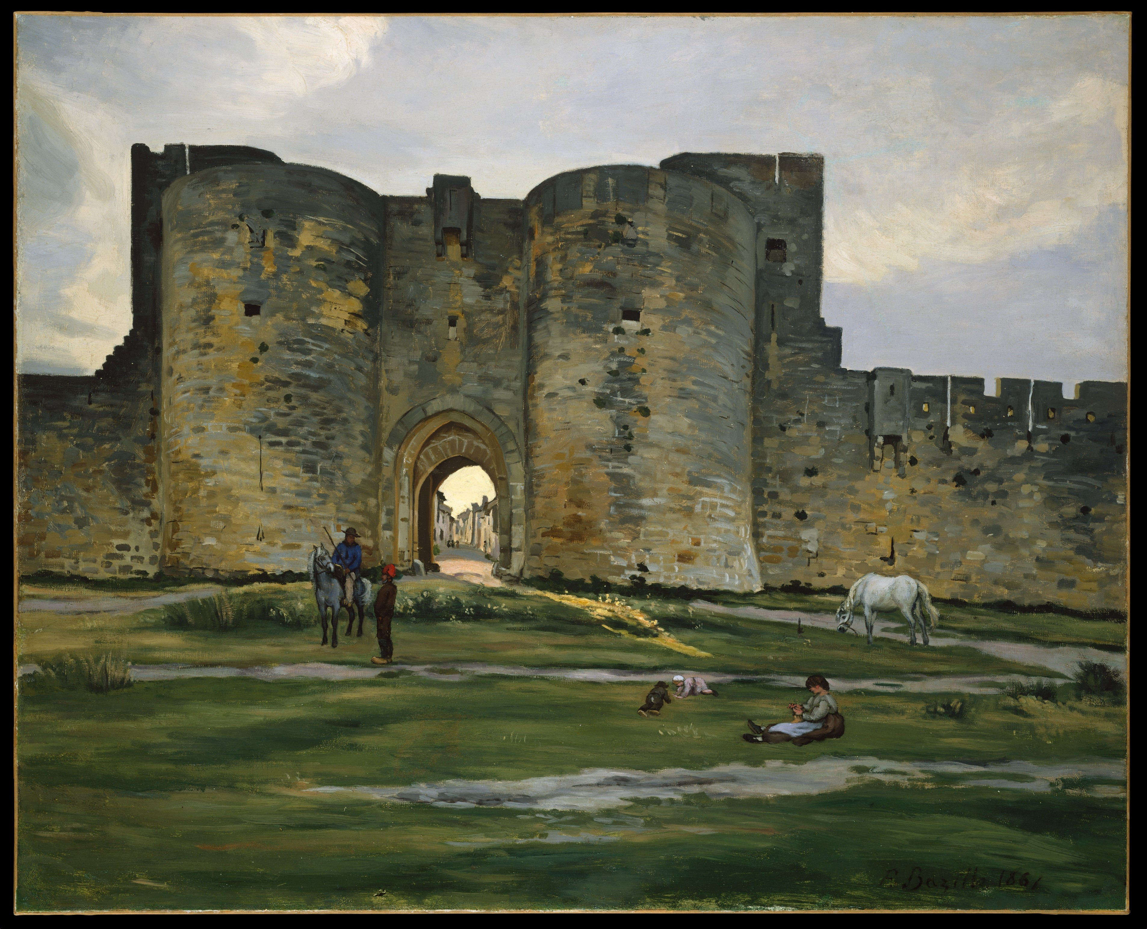 Porte de la reine at aiguesmortes by jeanfr d ric bazille for Porte in french