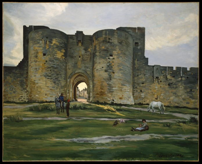 Porte de la Reine at Aigues-Mortes by Jean-Frédéric Bazille